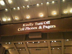 Kindly turn off cell phones & pagers