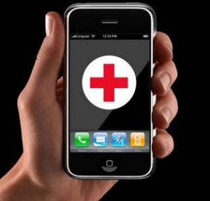 a picture of a mobile phone with a red cross on its screen