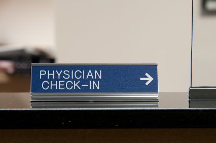 Physician Check-In Sign